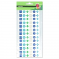 Assortment of 78 stickers in resin - jewels- Blue