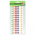 Assortment of 78 stickers in resin - jewels- Multicolour