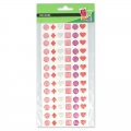 Assortment of 78 stickers in resin - jewels- Pink