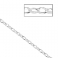 Chain with oval links 2.7mm silver tone x 1m