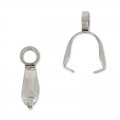 Pendant holders 8.5 mm Stainless Steel x10