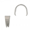 Pendant Holder 7 mm without jumpring Stainless Steel x5