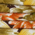 Cotton tube cord 6mm flowers brown/Orange x 1m