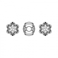 Swarovski 81961 BeCharmed Pavé 13.5mm Crystal Silver Night x1