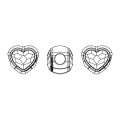 Swarovski 81951 BeCharmed Pavé 14mm Light Siam x1
