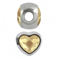 Swarovski 81951 BeCharmed Pavé 14mm Crystal Golden Shadow x1