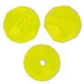 Flat faceted round 8mm Yellow Opal x1