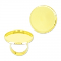 Raw setting ring base with 30mm setting Gold tone  x1