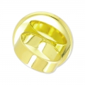 Raw setting ring base with 25mm setting Gold tone  x1