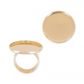 Raw setting ring base with 20mm setting Gold tone rose x1