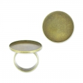 Raw setting ring base with 20mm setting Bronze tone x1
