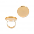 Raw setting ring base with 18mm setting Gold tone rose x1