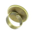 Raw setting ring base with 18mm setting Bronze tone  x1