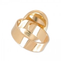 Raw setting ring base with 18x13mm setting Gold tone rose x1
