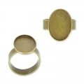 Raw setting ring base with 18x13mm setting Bronze tone  x1