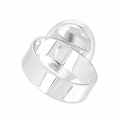 Raw setting ring base with 18x13mm setting Silver tone  x1