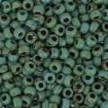 Miyuki Seed beads Duracoat 11/0 4514 - Op Turquoise Blue Picasso x8g
