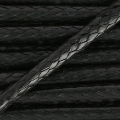 Polyester cord type snake cord 2 mm black x2m