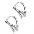 Leverback earrings pendant holder 18mm 925 silver x2