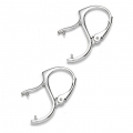 Leverback earrings for rounds 10mm 925 silver x2