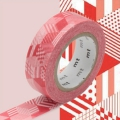 Masking Tape 15 mm Red Cubes x10m