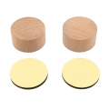 Wooden support to create stamps Paper Poetry - Round x2