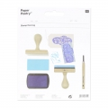 Rubber to create stamps Paper Poetry - Rectangle x3