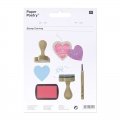 Rubber to create stamps Paper Poetry - Heart x3
