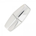 Magnetic clasp 34mm for 8mm cord silver tone