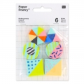 Assortment of 6 erasers 30 mm Geometric