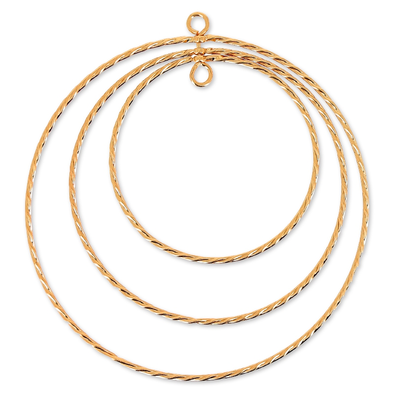 Goldtone Threads Magnetic Therapy Necklace
