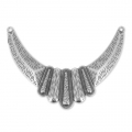 Spacer for necklace ethnic 104x37mm Old silver tone