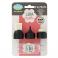 Set bottle with 3 caps for painting Pigment Izink Textile Aladine