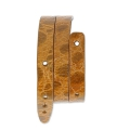 Leather bracelet base 2 turns 10 mm Imitation Crocodile Camel x 40 cm