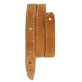 Leather bracelet base 2 turns 10 mm façon Daim Camel x 40 cm