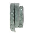 Leather bracelet base 2 turns 10 mm façon Daim Gris x 40 cm