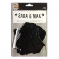 Garland 100 letters and signs to compose Toga 10 cm Black x1