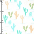 Fabric Tropical Spring - Cactus Mint/Coral x10cm