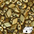 Diamonduo 2-hole 5x8mm Gold Mat x10g