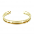 Eco Brass bracelet base with curved edge 10mm gold tone x1