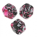 Fire Polished faceted round beads 4mm Tweedy Pink x50