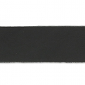 Leather bracelet flexible 15 mm Black x 100 cm