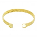 Brass Bracelet with 2 setting for 8mm cabs gold tonex1