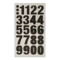 Assortment of 80 Office Stickers Paper Poetry Number 20mm black