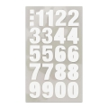 Assortment of 80 Office Stickers Paper Poetry Number 20mm Blanc