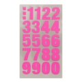 Assortment of 80 Office Stickers Paper Poetry Number 20mm Rose Fluo