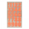 Assortment of 80 Office Stickers Paper Poetry Number 20mm Ora. Fluo