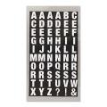 Assortment of 240 Office Stickers Paper Poetry letters 10mm Blanc