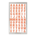 Assortment of 240 Office Stickers Paper Poetry letters 10mm Ora. Fluo