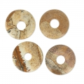 Donut 20mm Picture Jasper x1
